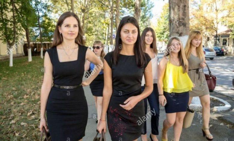 Chisinau Moldova Female students