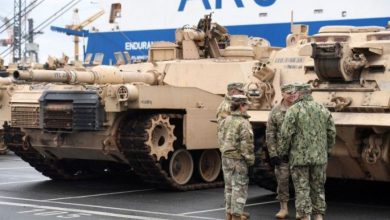 Photo of First group of NATO tank brigade arrives in Poland