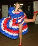 Photo of Miss Europe 2006 dancing cancan