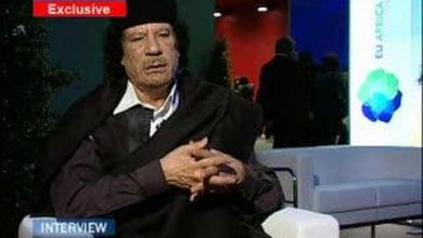 Photo of Gaddafi's Interview with EuroNews