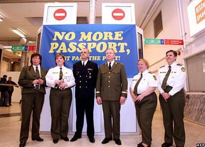 Estonian border guards prepare for entry into the Schengen area
