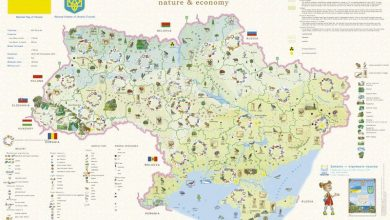 Ukraine nature economy map