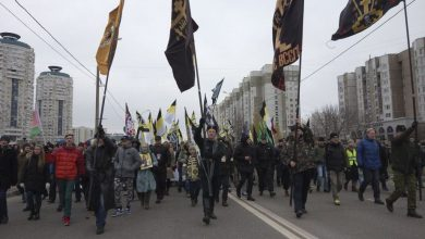 The fascist Russian March in Moscow