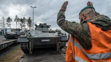 Photo of German tanks and IFV arrived in Lithuania