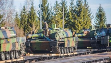Photo of Equipment for NATO tactical group brought to Estonia
