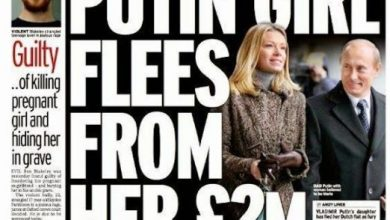 Photo of Putin's daughter fled from Holland, scared of Lynch's court