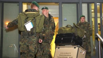 Photo of German and Belgian NATO soldiers arrive in Lithuania