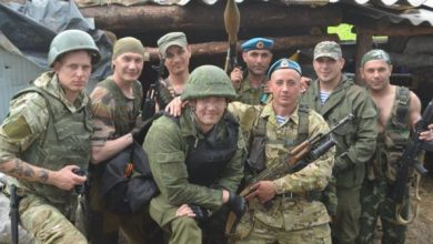 Photo of Italian mercenaries in the Donbass