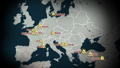 Map terrorist attacks