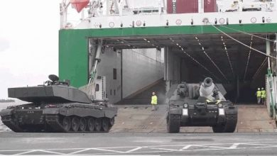 Photo of NATO moving tanks and troops to the Russian border
